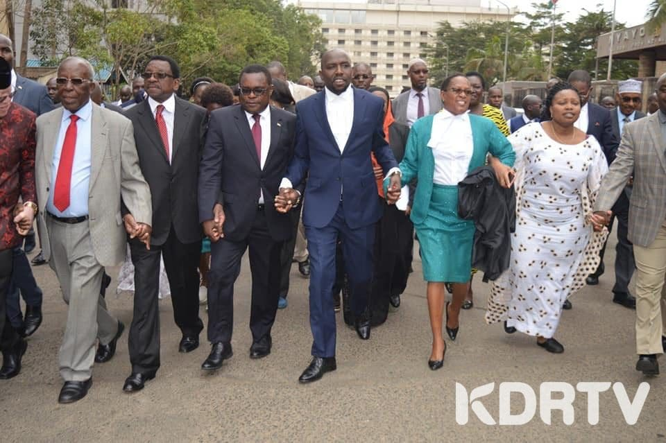 Senators march to the High Court