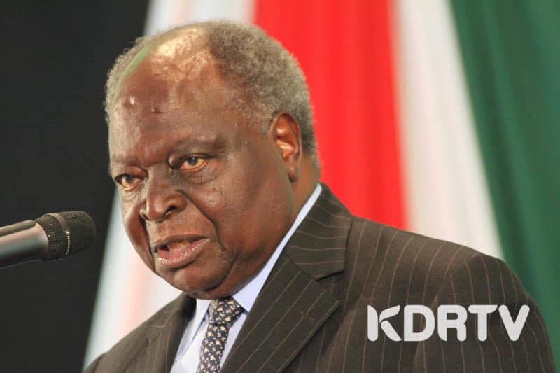 Former President Mwai Kibaki in a past event