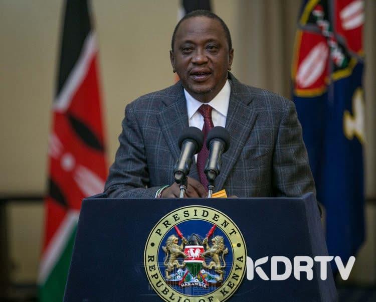 President Uhuru Kenyatta in past Briefing