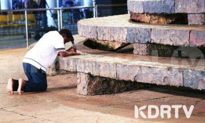 Prophet T.B. Joshua opens The SCOAN Living Water Service.