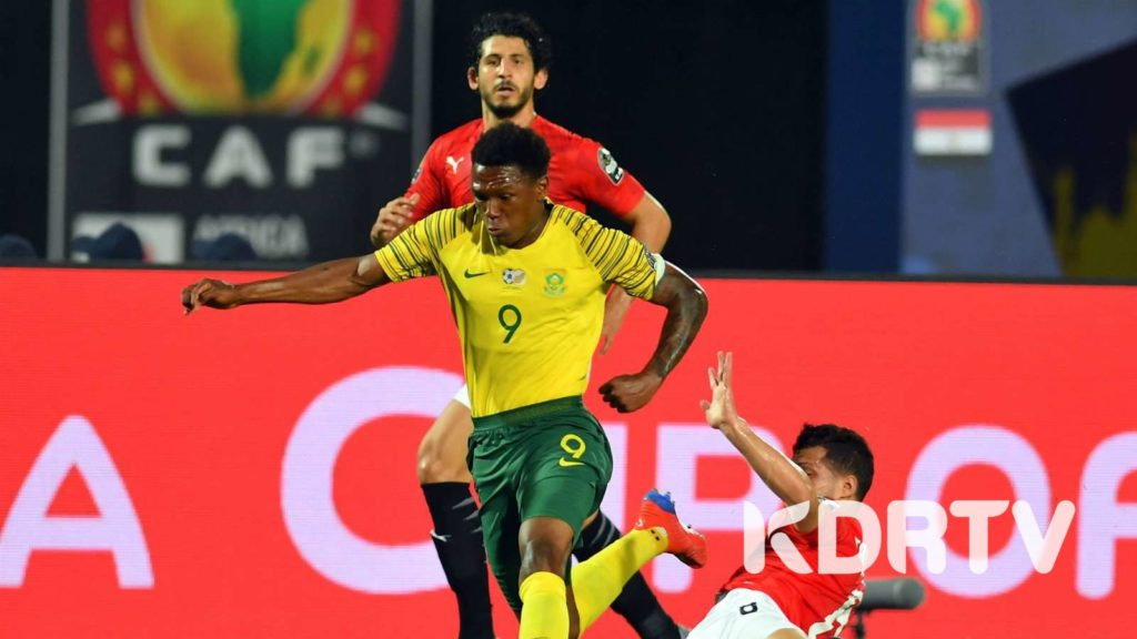 South Africa vs Egypt in AFCON 2019. Mothiba in motion