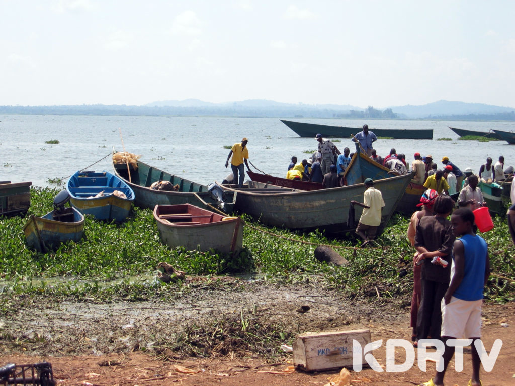 Ugandan fishing boats