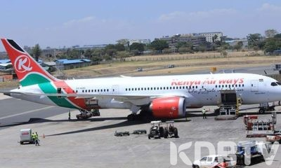 KENYA AIRWAYS PLANE.