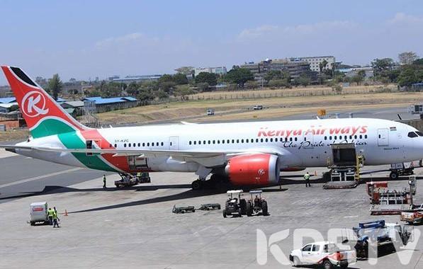 KENYA AIRWAYS PLANE.