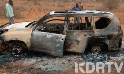 The legislators torched vehicle