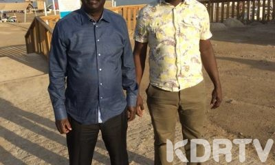 Raila Odinga with NASA CEO Norman Magaya