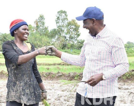 DP Ruto with Rice Farmer