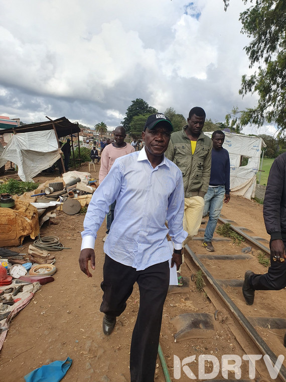 Former Kakamega Senator Bonny Khalwale was chased out of Laini Saba ward where he went to represent McDonald Mariga