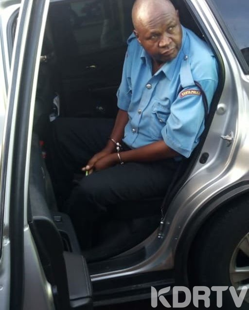 Officer arrested by eacc