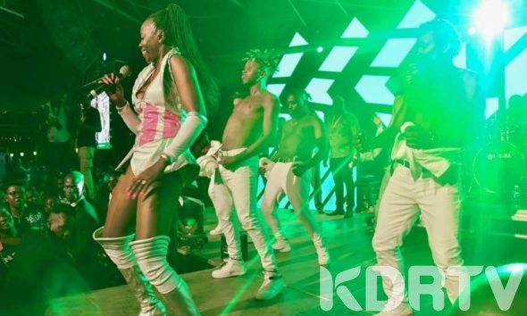 Akothee on stage at Luo Night Festival in Kisumu