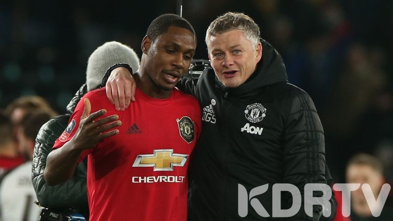 Man U boss with Odion Ighalo