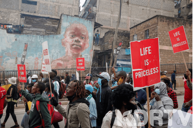 Mathare Residents Protest Over Police Brutality