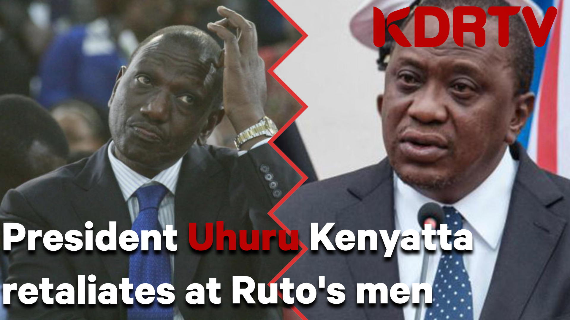Uhuru Ruto mad