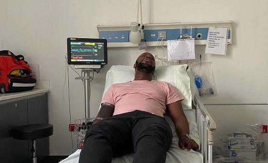 Edgar in hospital