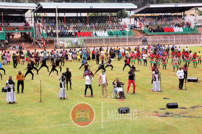 Entertainers Reherse ahead of Mashujaa Day Celebrations in Kisii