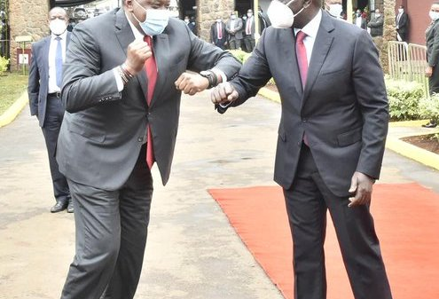 President Uhuru Kenyatta and DP William Ruto at BBI Launch