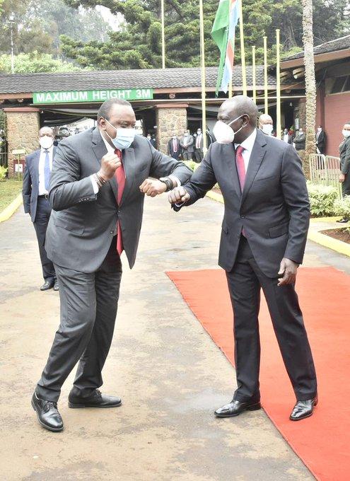 President Uhuru Kenyatta and DP William Ruto at BBI Launch