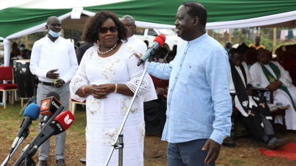 Raila and Mama Ida attended a church fundraiser in Bondo on Sunday