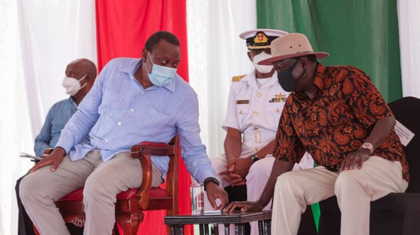 Uhuru and Raila Odinga in Kisumu
