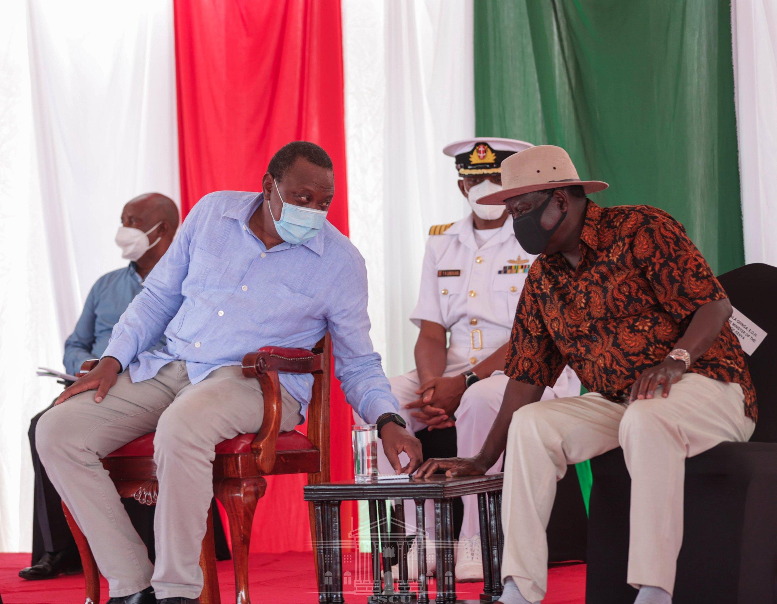 Uhuru and Raila Odinga in Kisumu