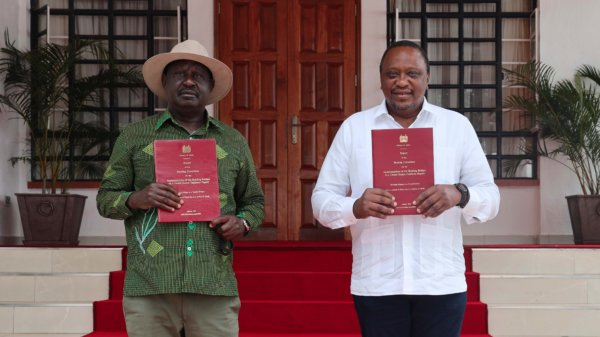 Uhuru and Raila Receive BBI Report in Kisii