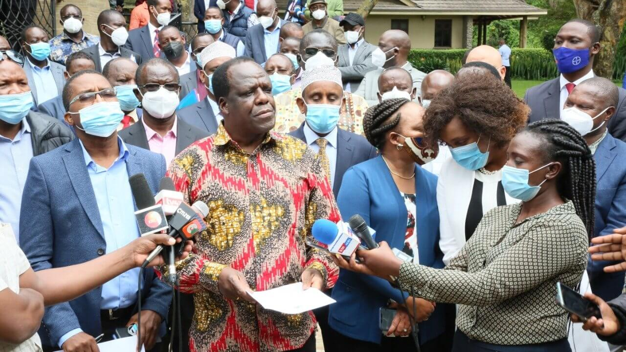 Governors Address the Press in Naivasha on Tuesday