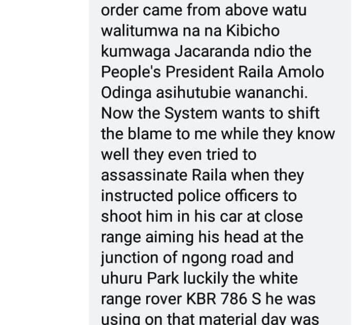 Mike Sonko on Raila assassination