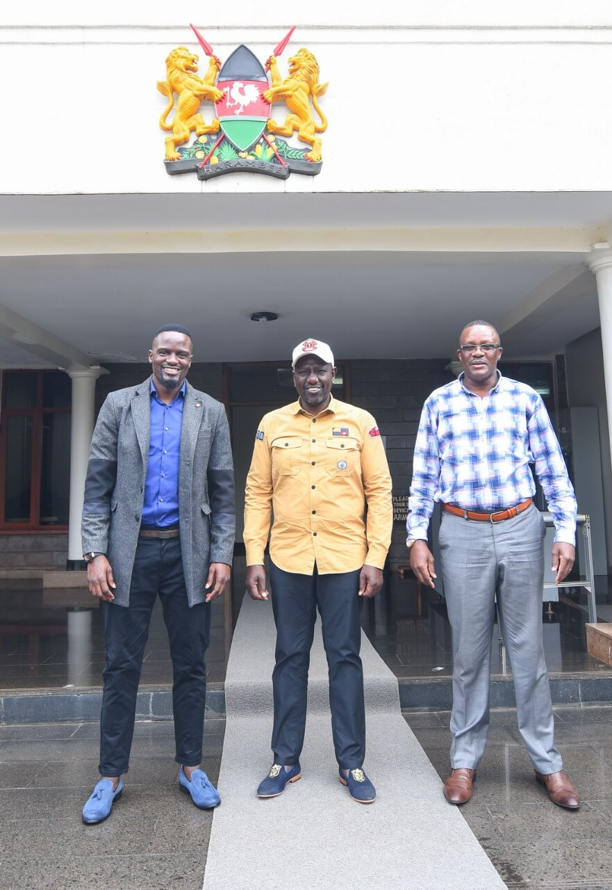 Ruto with Mariga and Owallo
